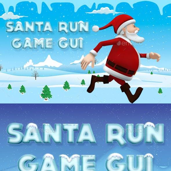 Santa Run Game Graphics Kit