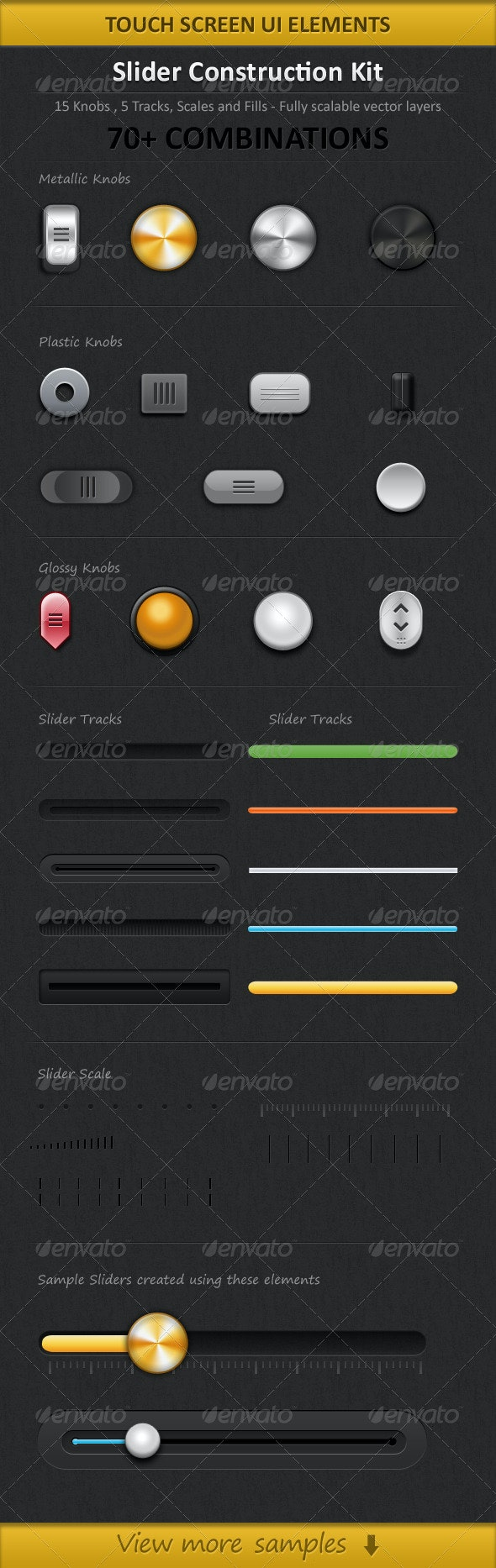 Touch Screen Slider Pack - User Interfaces Web Elements