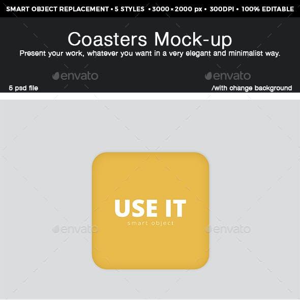 Coaster Mockups Design