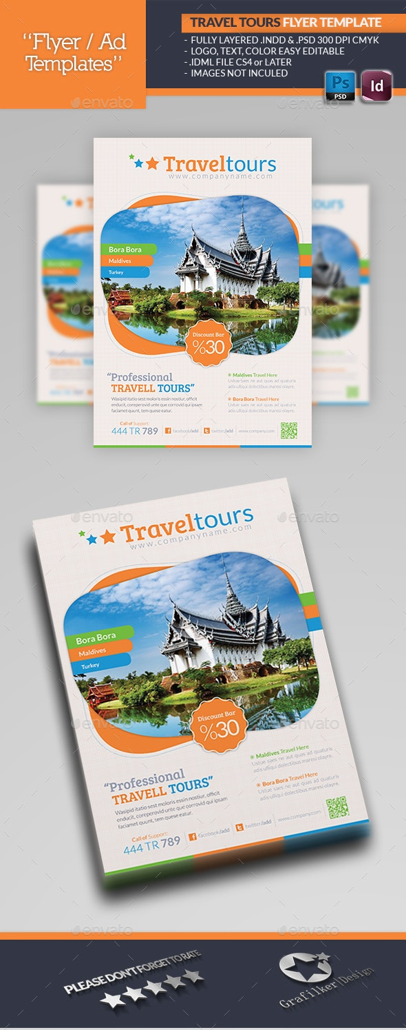Travel Tours Flyer Template - Corporate Flyers
