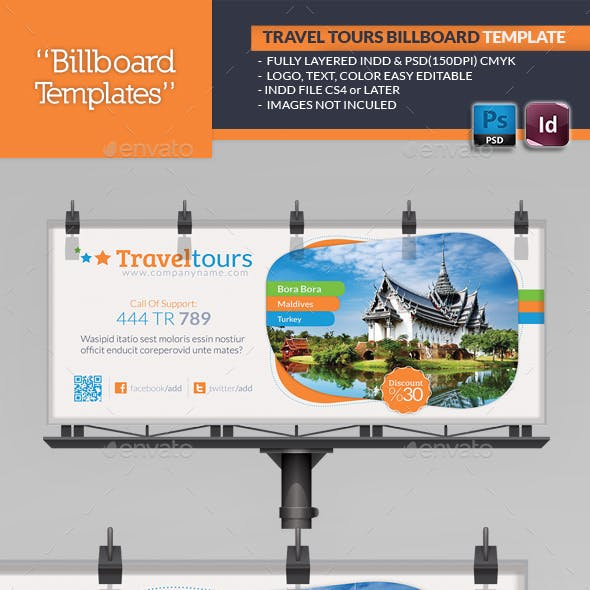 Travel Tours Billboard Template