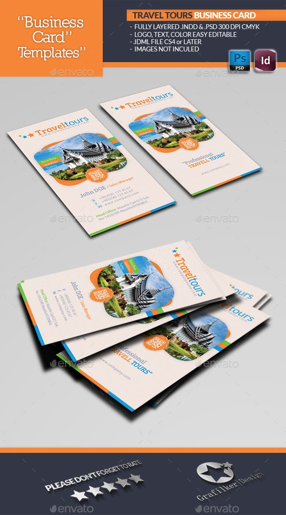 Travel Tours Business Card Template - Industry Specific Business Cards