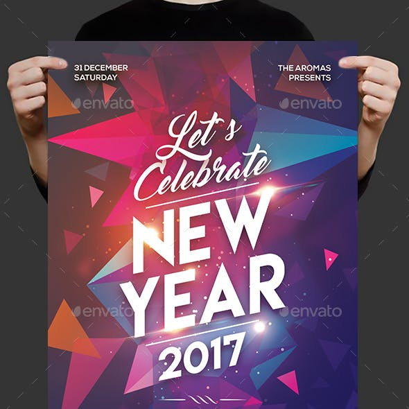 Colorful New Year Party Flyer