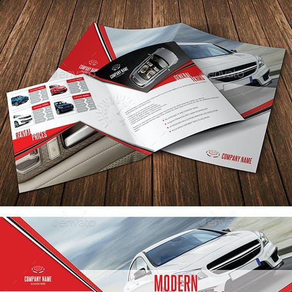 Square Modern Cars Rental Bifold Brochure 12