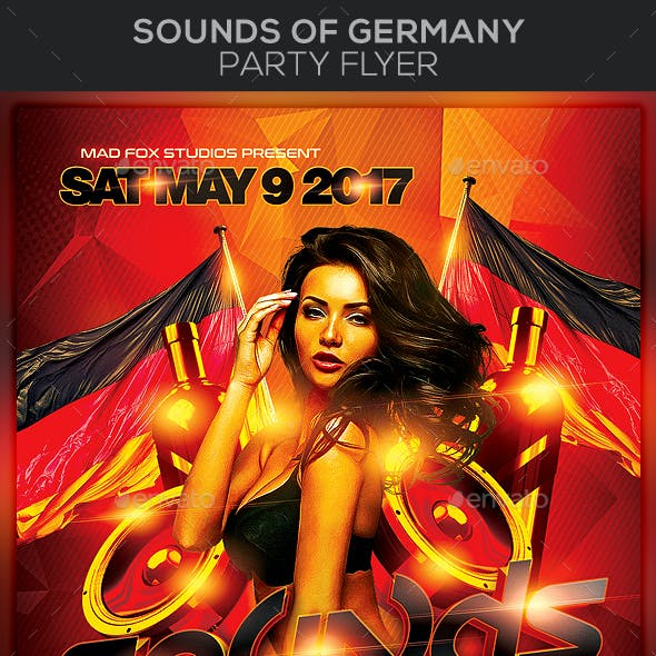 Sounds of Germany Party Flyer
