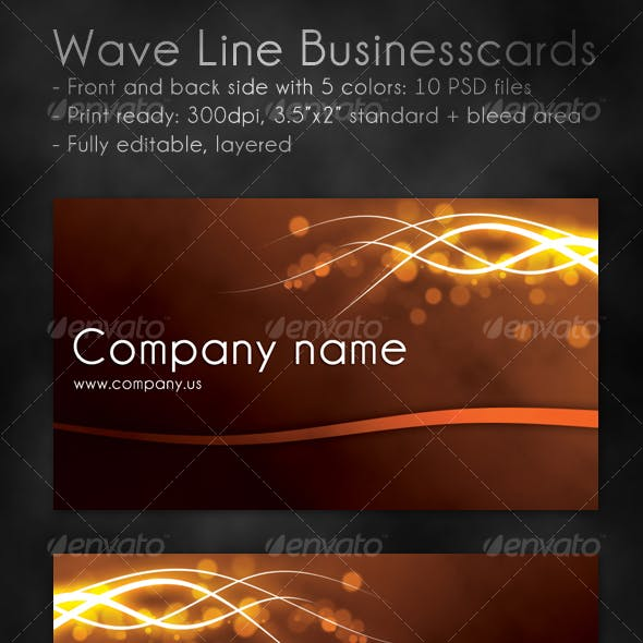 Wave Line Business Cards
