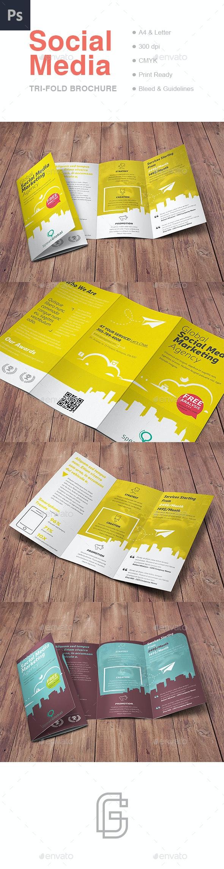 Social Media Tri-Fold Brochure - Corporate Brochures