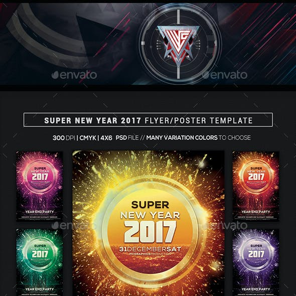 Super New Year 2017 Flyer/Poster Template