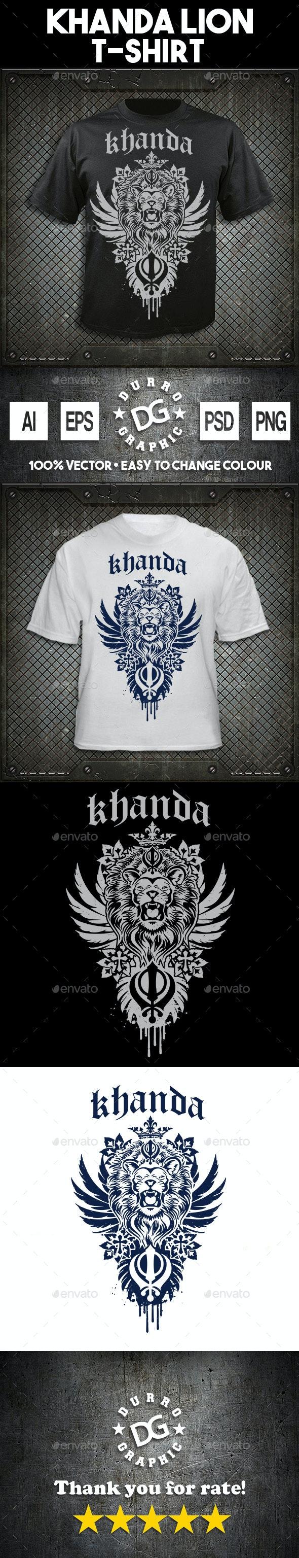 Khanda Lion - T-Shirts