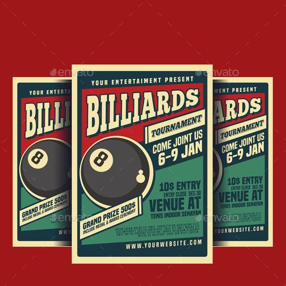 Billiard Tournamet Flyer