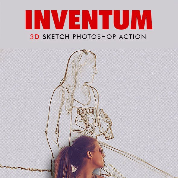 Inventum - 3D Sketch Photoshop Action