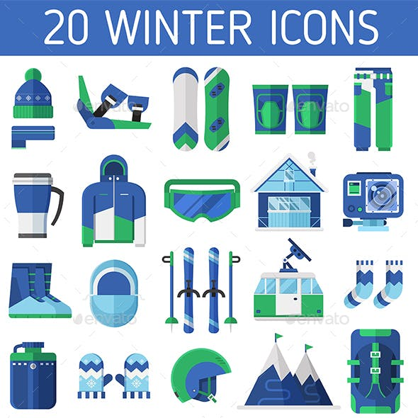Ski Resort Icons