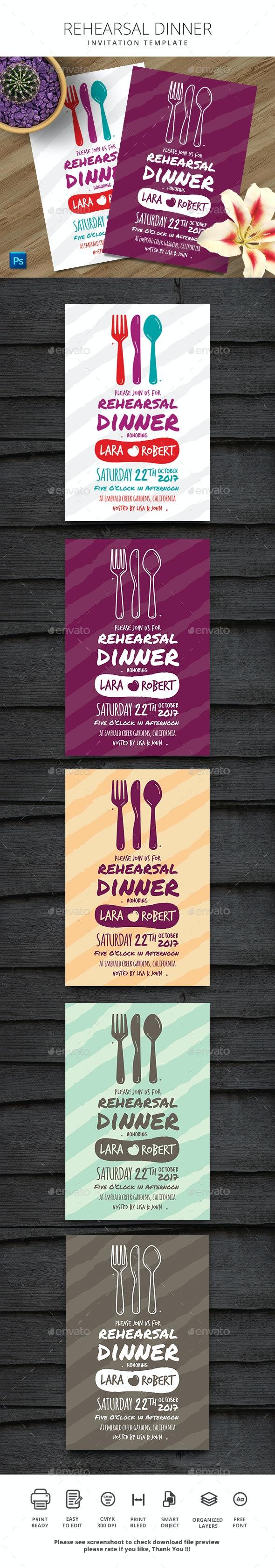 Rehearsal Dinner Invitation - Events Flyers