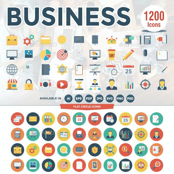 1200 Business Icons Pack