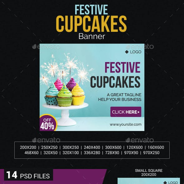 Festive Cupcake