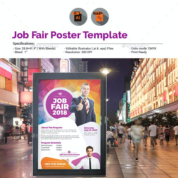 Job or Career  Fair Poster Template V2