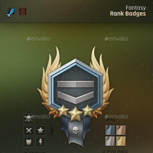Fantasy Rank Badges