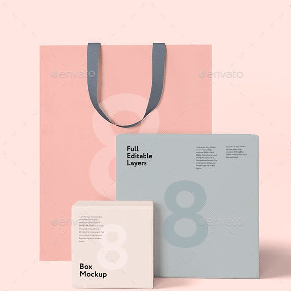 Box and Bag Mock-up