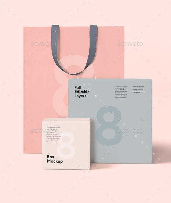 Box and Bag Mock-up - Miscellaneous Packaging