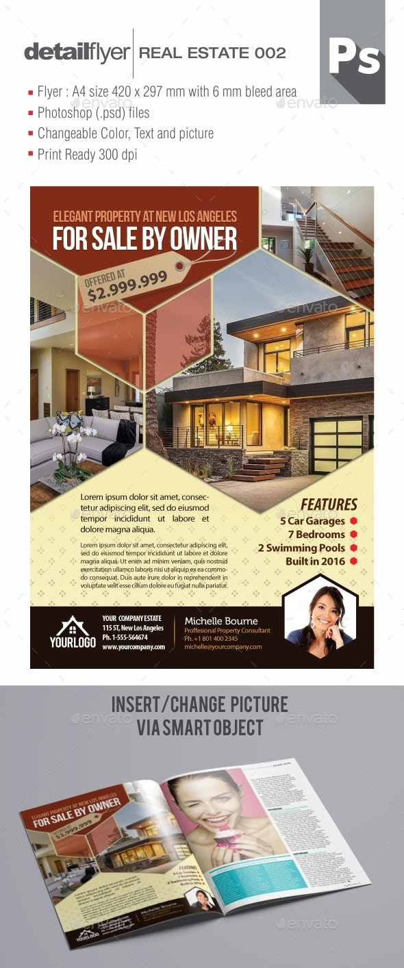 Real Estate Flyer Template Ver. 003 - Flyers Print Templates