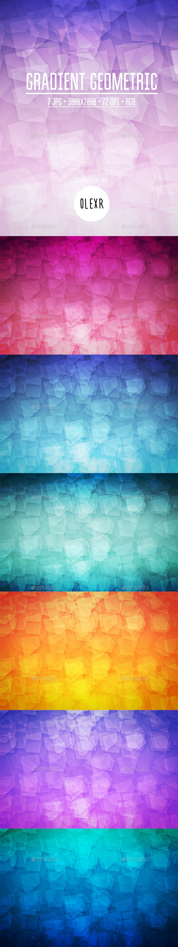 Gradient Geometric Backgrounds - Abstract Backgrounds