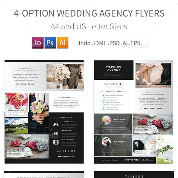 Wedding Agency Flyers - 4 Options