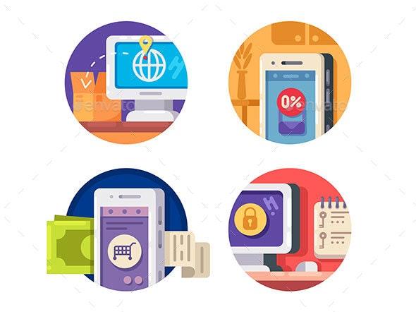 Internet Technology Icons