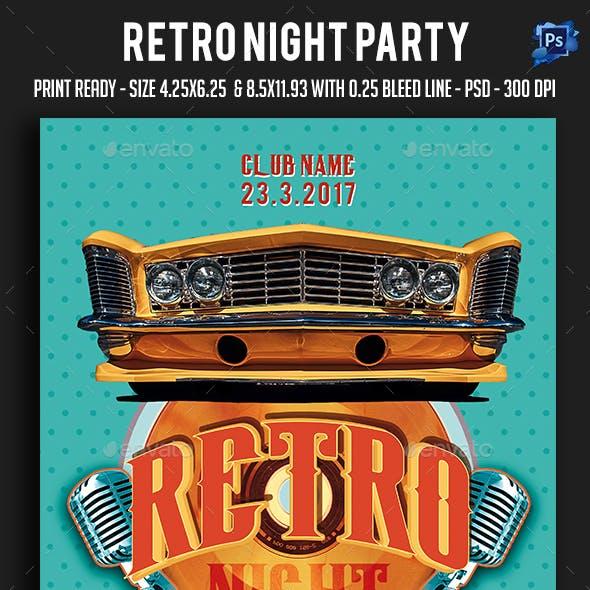 Retro Night Party Flyer