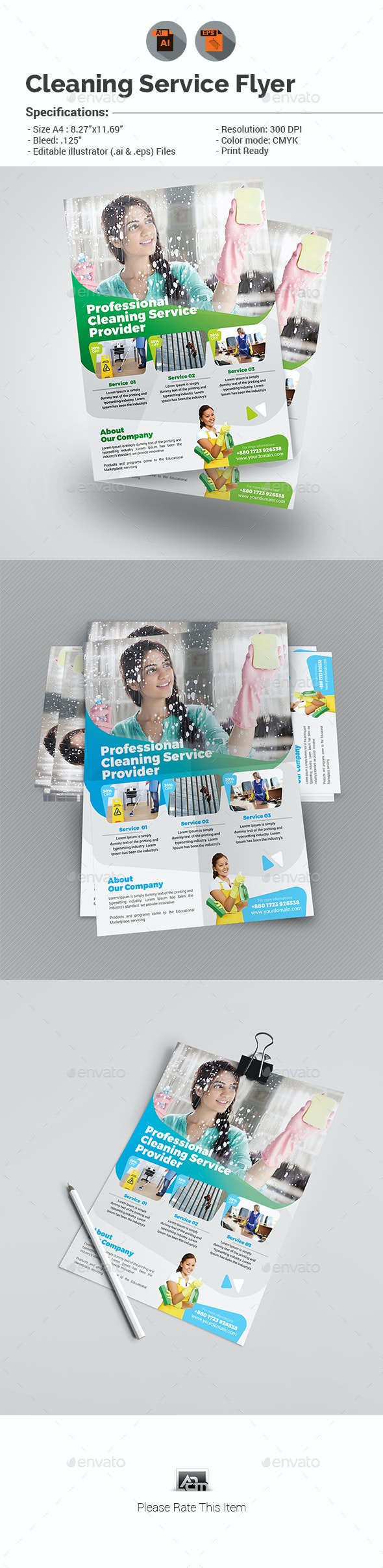 Cleaning Services Flyer V5 - Commerce Flyers