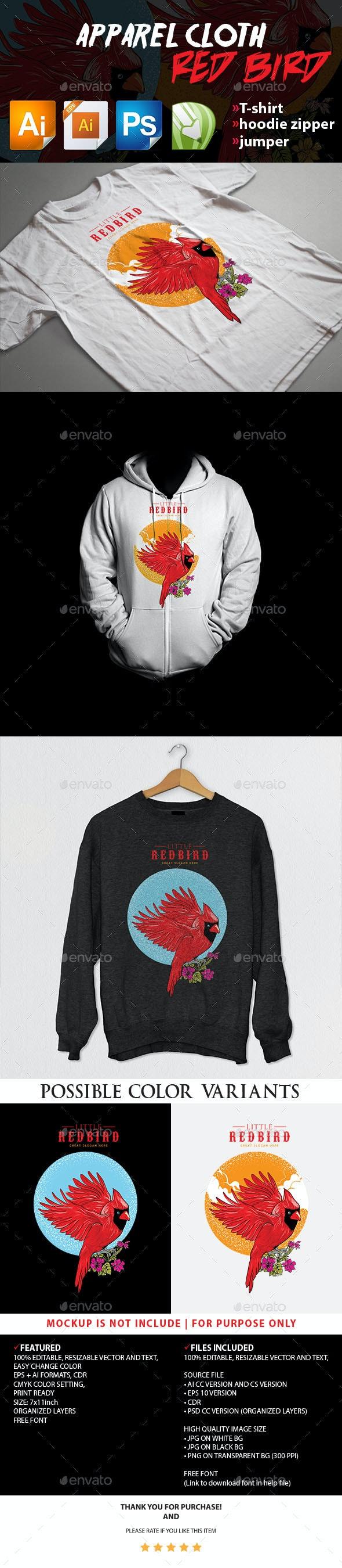 Red Bird Apparel Cloth - T-Shirts