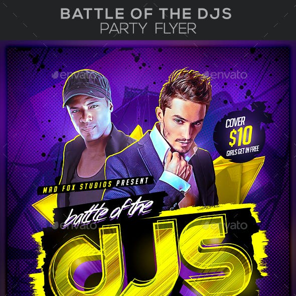 Battle of the DJs Party Flyer