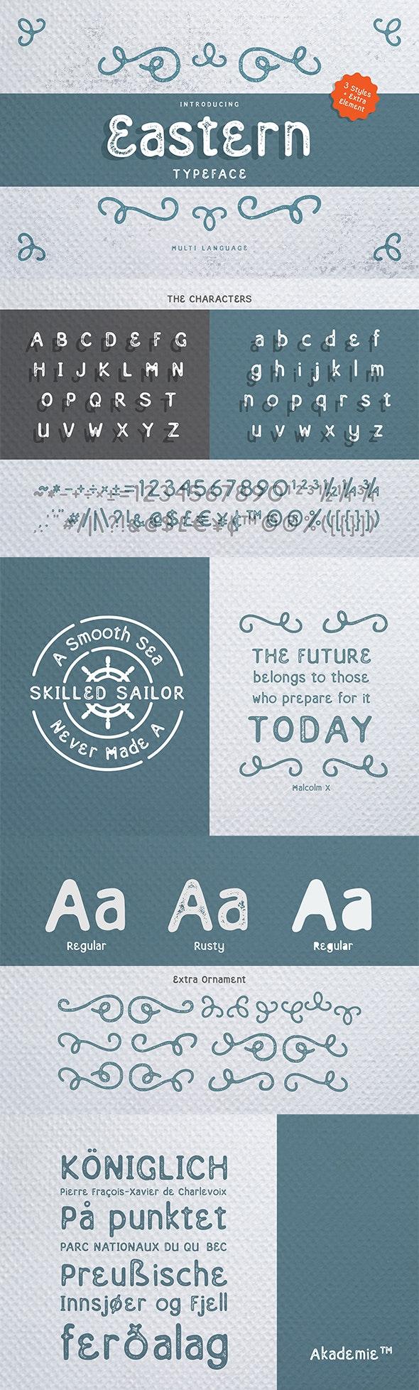 Eastern Typeface - Fancy Fonts