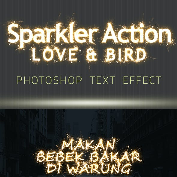 Sparkler Text Effect Photoshop Action