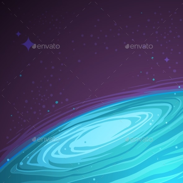 Vector Abstract Space Background. - Backgrounds Decorative