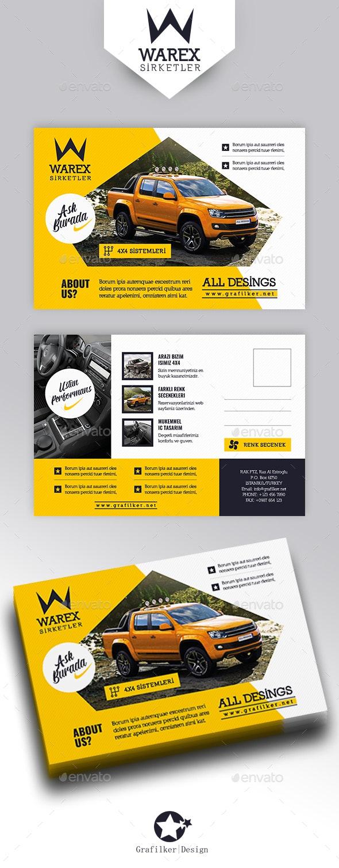 Automobile Introduction Postcard Templates - Cards & Invites Print Templates