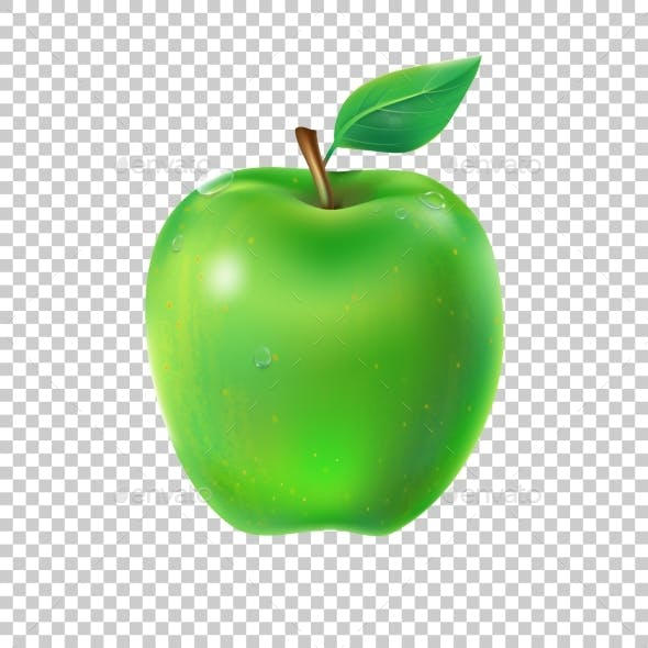 Vector Illustration of a Juicy Apple
