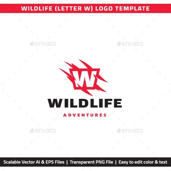 """Wildlife Letter """"W"""" Logo"""