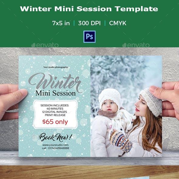 Winter Mini Session Template-V05