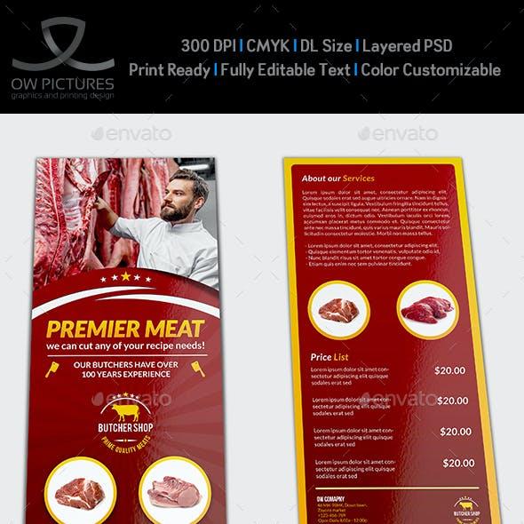 Butcher Shop DL Flyer Template