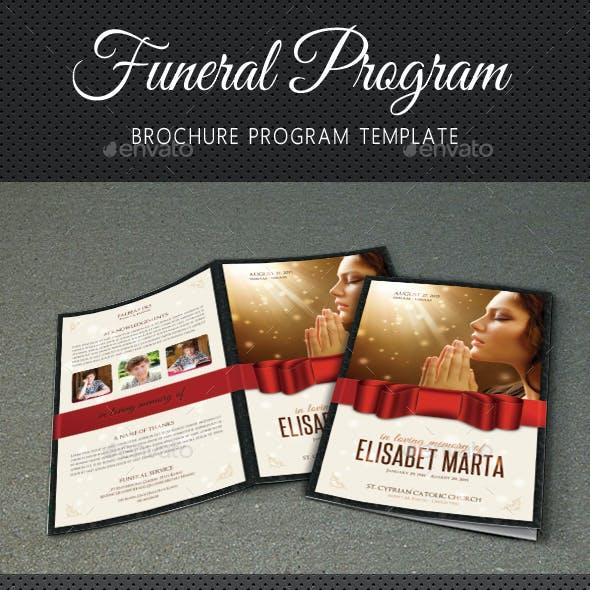Funeral Program Brochure Template V04