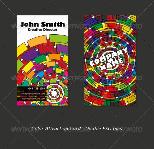 Color Attraction Card - Creative Business Cards