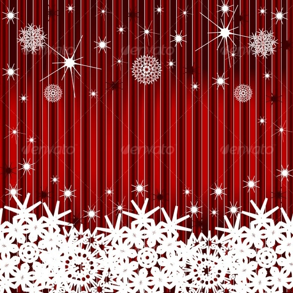 striped background with the snowflakes - Christmas Seasons/Holidays