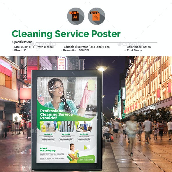 Cleaning Services Poster Template