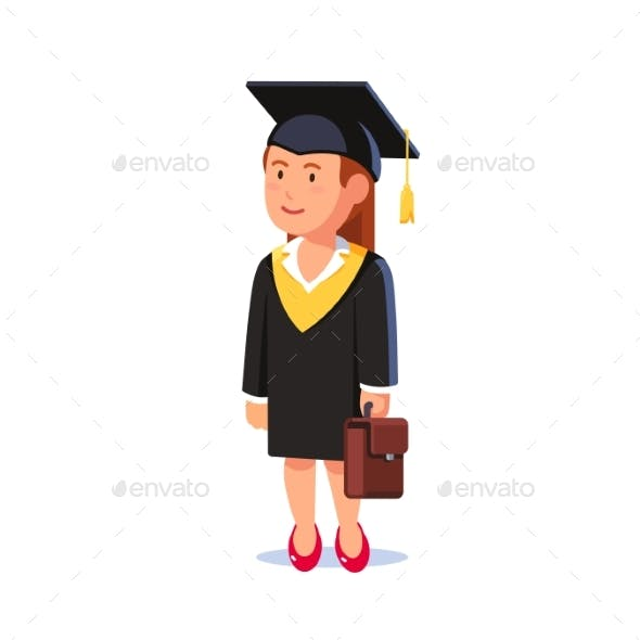 Student Woman Graduated From MBA Business School