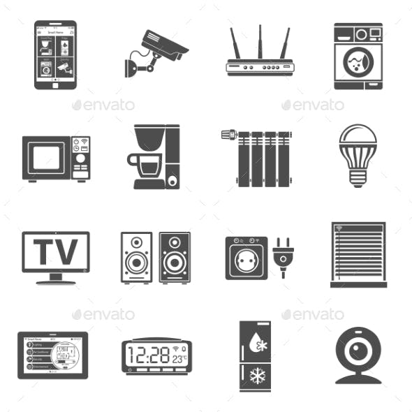 Smart House and Internet of Things Icons Set
