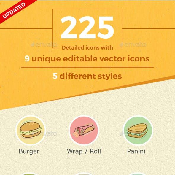 Stylish Food Icons