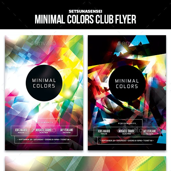 Minimal Colors Club Flyer