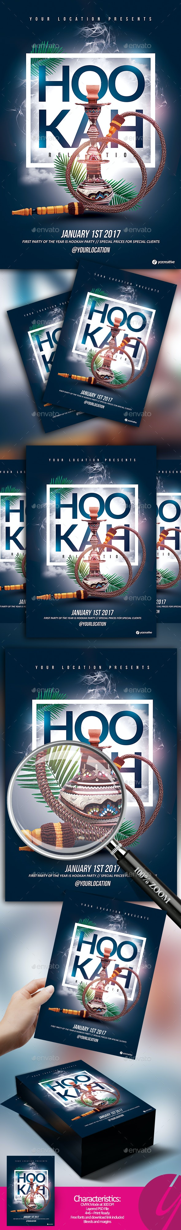 Hookah Relaxation Flyer - Events Flyers