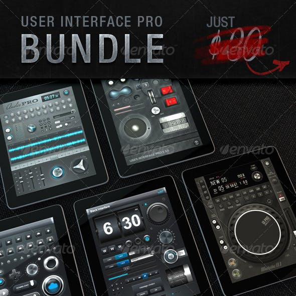 Tablet/Phone UI PROFESSIONAL SET BUNDLE