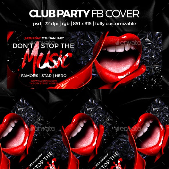 Club Party Facebook Cover